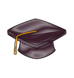 graduation cap accessory education success symbol vector image