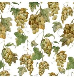 Grapes watercolor rose pattern vector