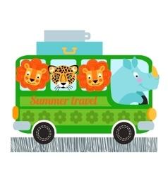 Green bus design vector