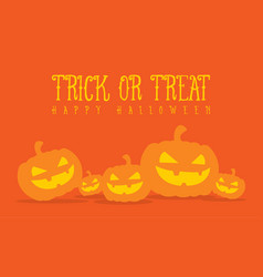 halloween pumpkin background style collection vector image