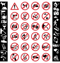 Icons safety vector