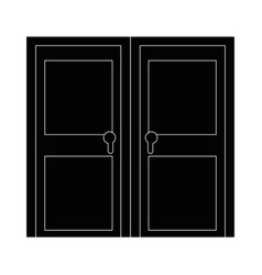 isolated big door vector image