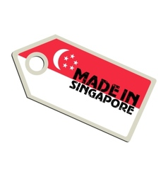 Made in Singapore vector image
