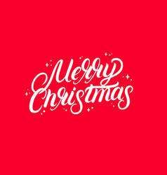 merry christmas 2018 hand written lettering text vector image vector image