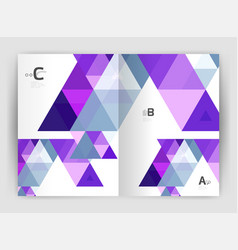 modern triangle print template vector image