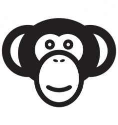 Monkey head vector