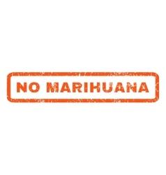 No marihuana rubber stamp vector