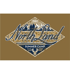 North Land summer camp vector image vector image