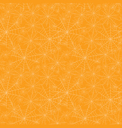 orange spiderweb texture halloween seamless vector image