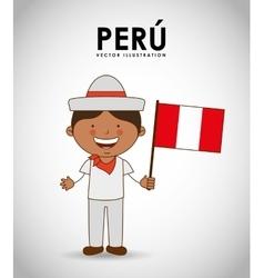 Peru kid vector