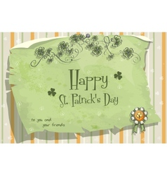 Postcard to the day of StPatrick vector image