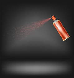 Red spray isolated vector