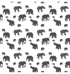 Seamless pattern of elephant vector