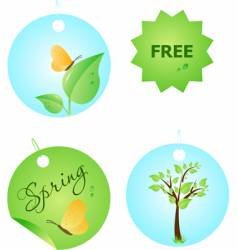 set of spring labels vector image vector image