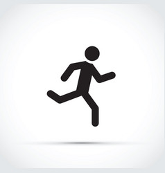 stick man running vector image