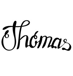 Thomas name lettering vector