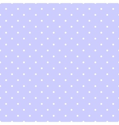 Tile white polka dots on blue background vector image