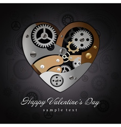 Valentine heart mechanisms background vector