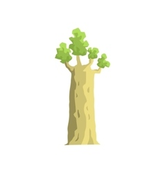 Young baobab tree jungle landscape element vector