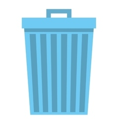 Waste garbage isolated icon vector