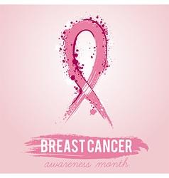 breast cancer awareness symbol vector image