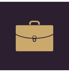 The briefcase icon portfolio symbol flat vector