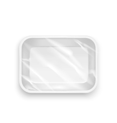 Template Blank White Plastic Food Container vector image