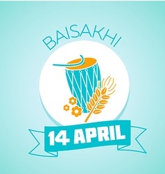 14 april day baisakhi vector