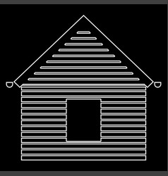 siding front the white path icon vector image