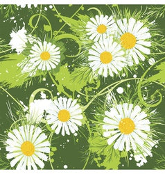 Summer floral seamless pattern vector