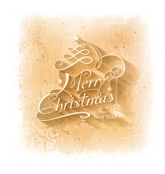 Christmas Grunge Background With Merry vector image