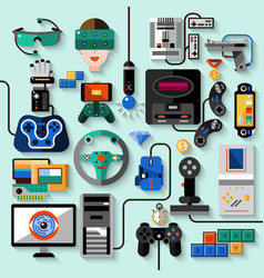 Gaming Gadgets Set vector image
