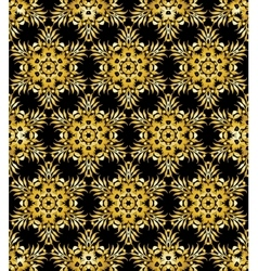 Golden ornamental background on black vector