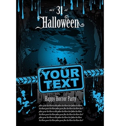 Halloween fear horror party background vector