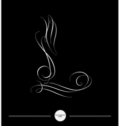 Calligraphic letter abstract font vector