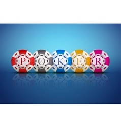 Casino chips with letters poker vector