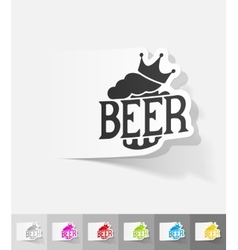 Realistic design element king beer vector