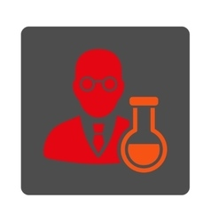 Chemist rounded square button vector