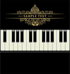 piano keyboard vector image