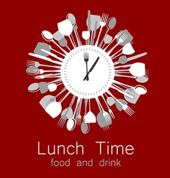 Lunch time logo vector
