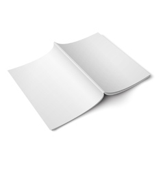 Blank opened magazine back cover template vector