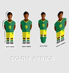 South Africa Soccer Team Sportswear Template vector image