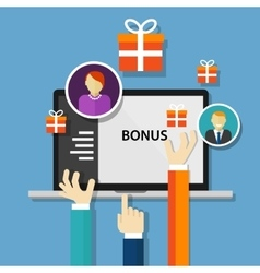 Bonus employee reward benefits promotion offer vector