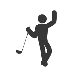 Golf club and pictogram icon sport concept vector