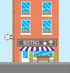 Bistro building cafeteria vector