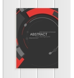 Brochure in abstract style with red shapes vector