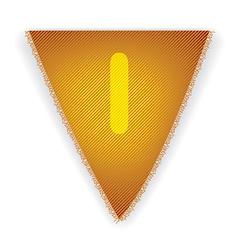 Bunting flag letter i vector