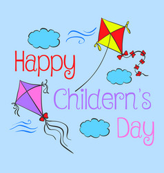 Children day hand draw style doodles vector