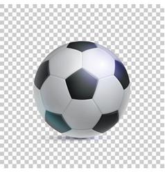 Classic soccer ball realistic transparent vector