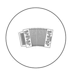 Classical bayan accordion or harmonic icon in vector